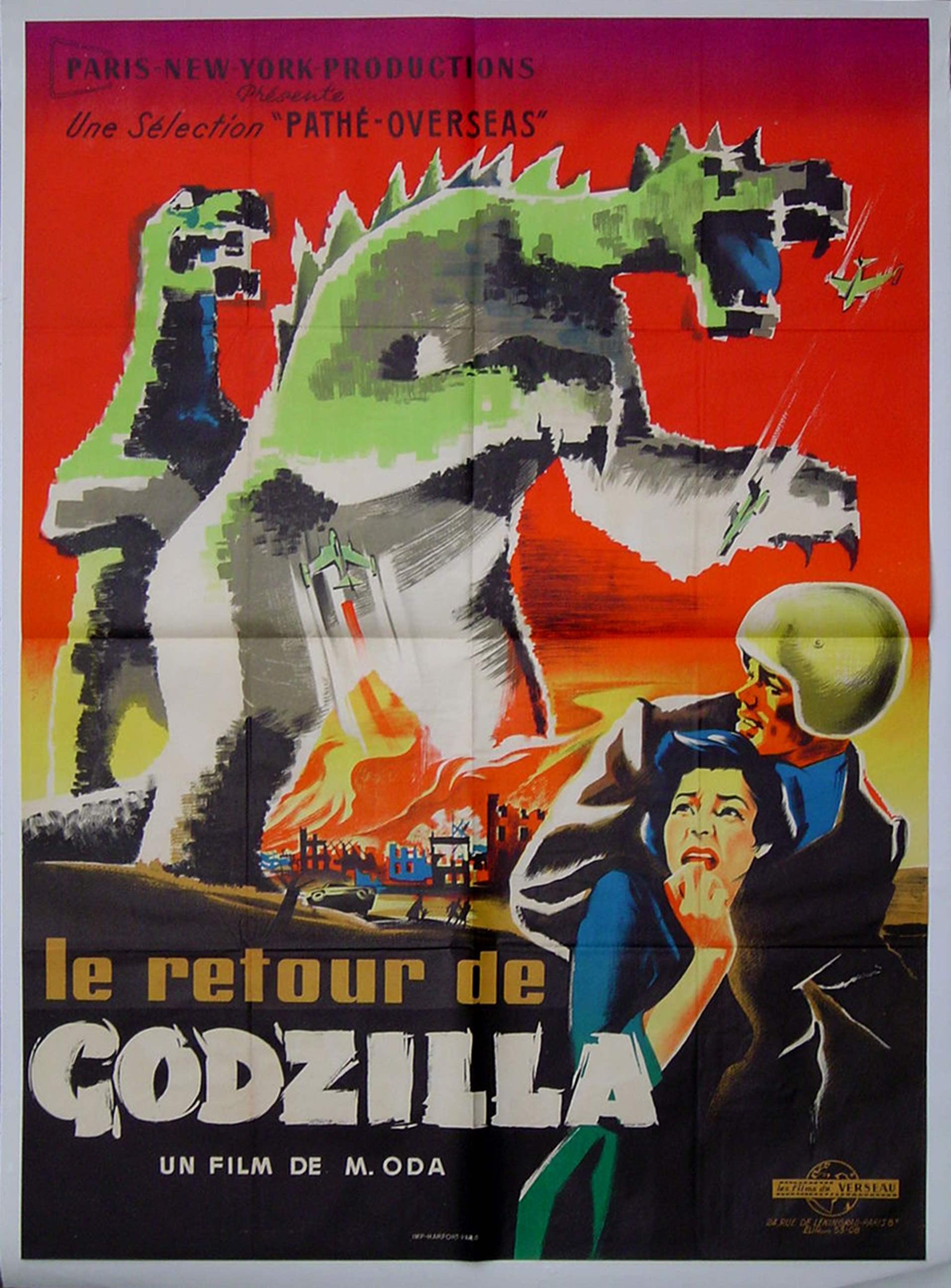 Return of Godzilla French 2 Panel